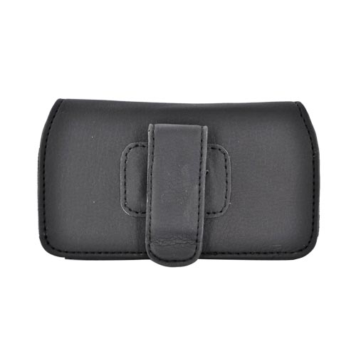 Licensed NBA Universal Miami Heat Horizontal Leather Pouch - Black (PUT)