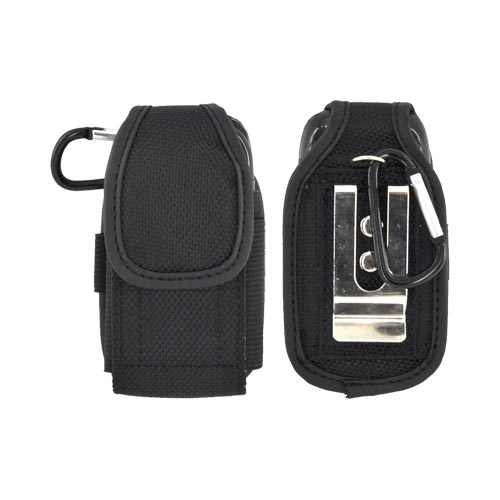 Heavy Duty Pouch Case w/ 2 Belt Options (Steel Belt Clip & D-Link) (FM)