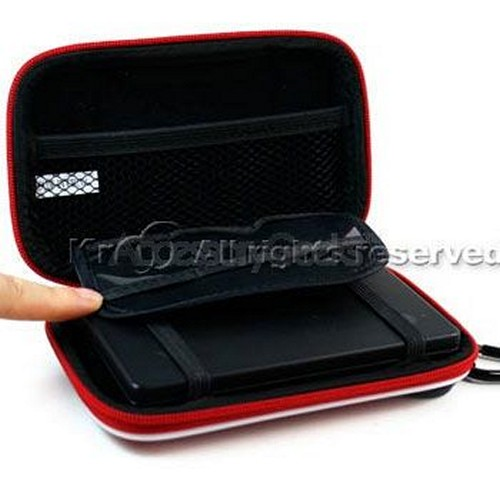 Nintendo DSi EVA Carry Case w/ Carabiner Clip - Red Mesh