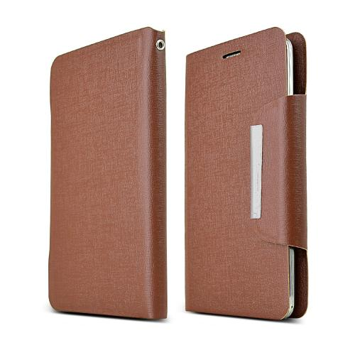 Brown Universal Wallet Case With Coolest Premium [pu/faux Leather] And Magnetic Flap Closure For Samsung Galaxy S5/ Note 3 Sized Phones