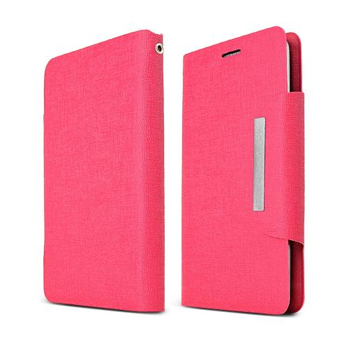 Hot Pink Universal Wallet Case [pu/faux Leather] Magnetic Flap Closure For Samsung Galaxy S5/ Note 3 Sized Phones