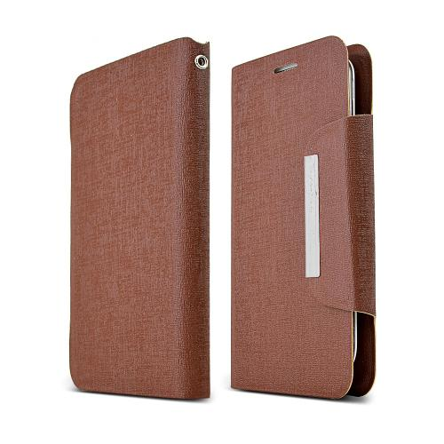 Brown Universal Wallet Case With Premium [pu/faux Leather] And Magnetic Flap Closure Wallet Case Cover For Samsung Galaxy S4 Sized Phones
