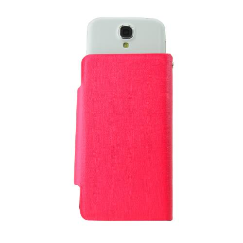 Hot Pink Wallet Case; Best Design With Coolest Premium [pu/faux Leather] Magnetic Flap Closure For Samsung Galaxy S4 Sized Phones