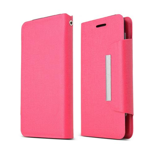 Hot Pink Universal Wallet Case; Best Design With Coolest Premium [pu/faux Leather]  Magnetic Flap Closure; Fashion Slim Universal Wallet Case Cover