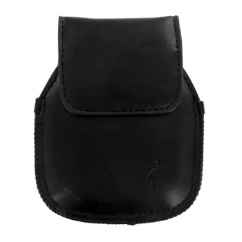 Verizon Blitz Vertical Leather Pouch w/ Belt Clip - Black