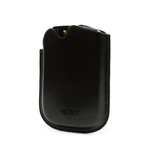 Premium Blackberry Bold Signature Leather Pocket Pouch w/ Sleeper Function- Black
