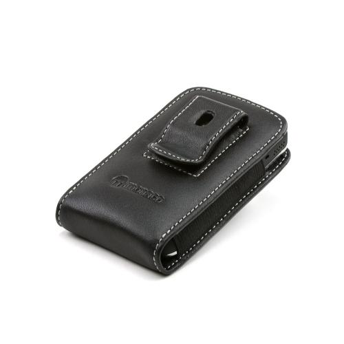 Premium Blackberry Bold Monaco Vertical Leather Pocket Type Pouch - Black