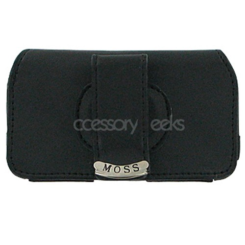 Envy Universal Horizontal Leather Cell Phone Pouch (FUT) - Black