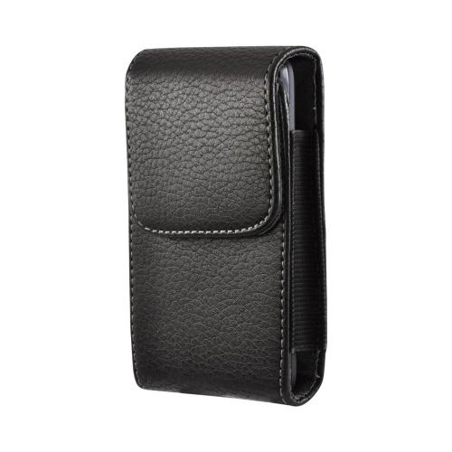 Black Universal Vertical Holster Pouch w/ Magnetic Closure & Belt Clip for HTC EVO 4G Sized Phones (PUTXL)