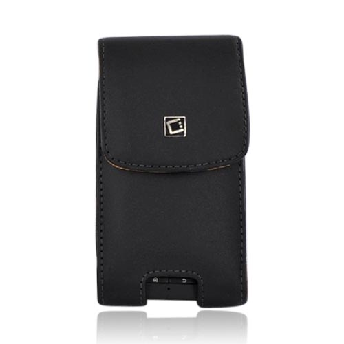 Cellet Motorola Droid X MB810 Vertical Leather Pouch w/ Belt Clip - Black (PUTXL SIZE)