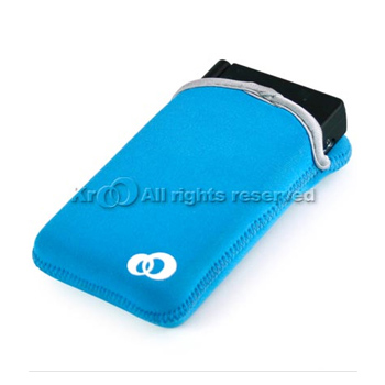 Nintendo Dsi Nylon Vertical Reversible Sleeve Pouch - Baby Blue