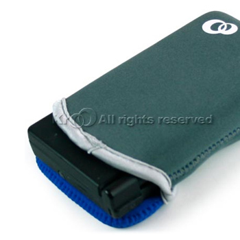 Nintendo Dsi Nylon Vertical Reversible Sleeve Pouch - Blue