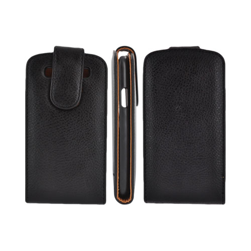 Samsung Galaxy S3 Vertical Leather Pouch Case w/ ID Slots - Black (PUT2XL)