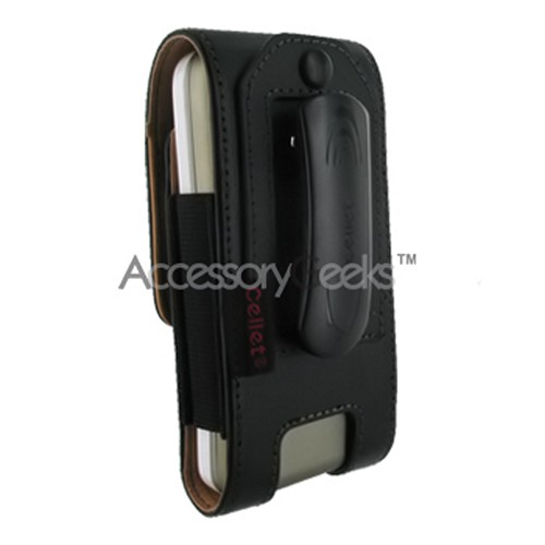 Palm Treo 650 Vertical Leather Pouch - Black