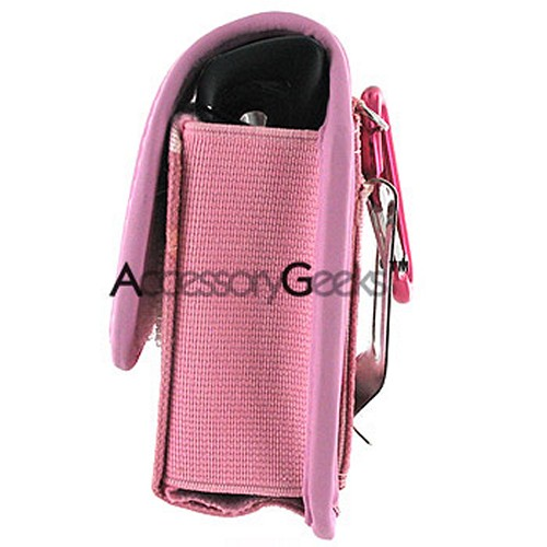 Pink Camouflaged Army Pouch w/ Stainless Steel Belt Clip - (FS)