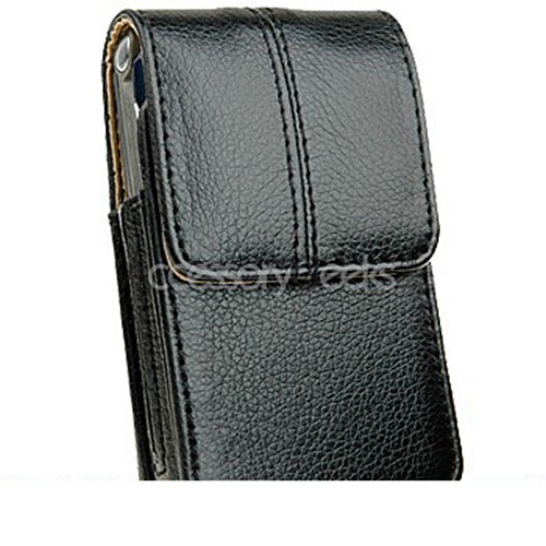 Motorola RAZR V3 Vertical Executive Leather Pouch w/ Belt Clip - Black
