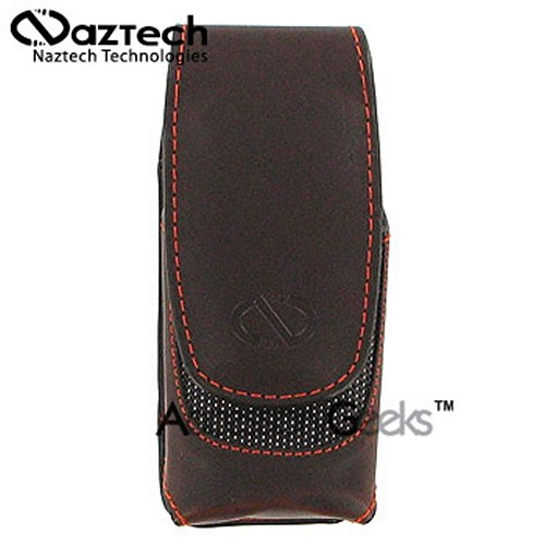 Naztech Vertical Ultima Cell Phone Case (BS) - Coffee Brown