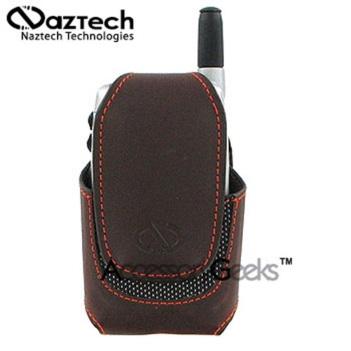Naztech Vertical Ultima Cell Phone Case (FM) - Coffee Brown