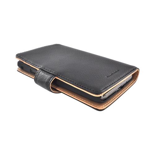 Premium AT&T Samsung Galaxy S2 Leather Wallet Case Pouch w/ ID Slots - Black