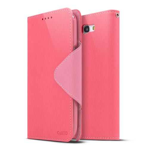 Hot Pink/ Baby Pink Faux Leather Diary Flip Stand Case w/ ID Slots & Bill Fold for Samsung Galaxy Note 2