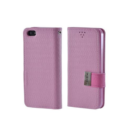 Pink Super Premium Milky Series Faux Leather Wallet Case w/ ID Slots for iPhone 5/5S