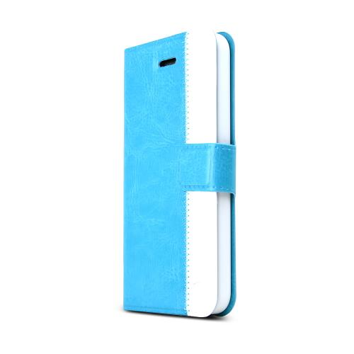 [redshield] Turquoise/ White Apple Iphone 5/5s Wallet Case Hard Case [plastic/ Faux Leather]W/ Credit Card Slots, Stand Function + Snap Close Magnet