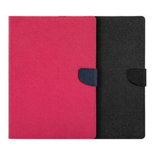 Apple iPad Pro (9.7 inch) Diary Case, [Hot Pink] Kickstand Feature Luxury Faux Saffiano Leather Front Flip Cover with Built-in Card Slots, Magnetic Flap