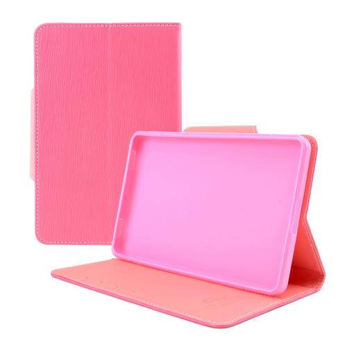 Hot Pink/ Baby Pink Faux Leather Diary Flip Case w/ ID Slots, Bill Fold, Magnetic Closure for Amazon Kindle Fire 2 2012