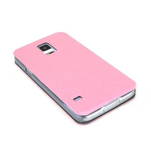 RED SHEILD Shimmery Baby Pink Diary Wallet Case Stand w/ Suction Cup Closure for Samsung Galaxy S5