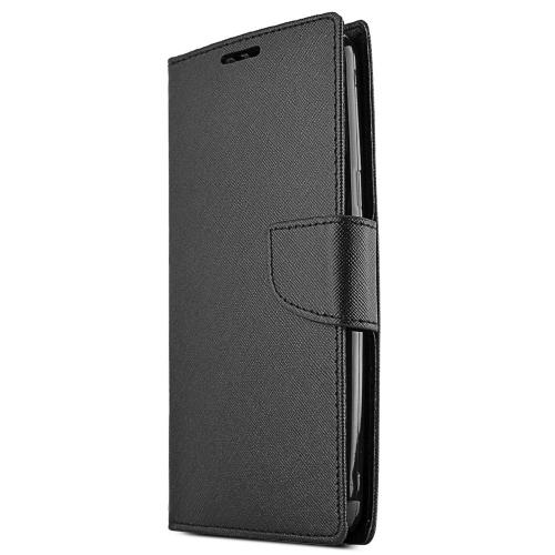 Samsung Galaxy Mega 2 Wallet Case [black] Slim & Protective Flip Cover Diary Case W/ Id Slots & Magnetic Flap Closure- Keep Everything In One Place!