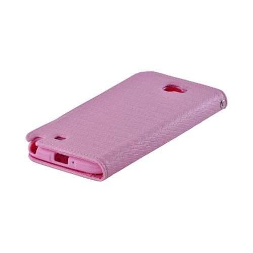 Pink Super Premium Milky Series Faux Leather Wallet Case w/ ID Slots for Galaxy Note 2