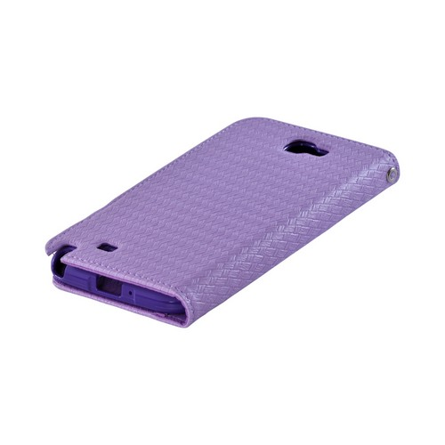 Purple Super Premium Milky Series Faux Leather Wallet Case w/ ID Slots for Galaxy Note 2