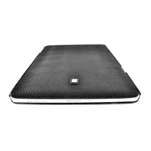Apple iPad (1st Gen) Eno-Case Stretchy Textured Case w/ Small Squares Design - Black