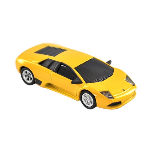Original DBLY AutoDrive 4GB Flash Drive w, USB Extension Cable, LW1102-Y4 - Yellow Lamborghini Murcielago