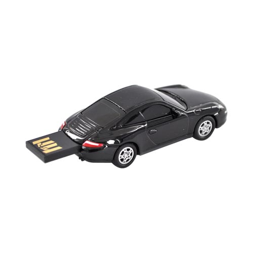 Original DBLY AutoDrive 4GB Flash Drive w, USB Extension Cable, LW1103-BL4 - Black Porsche 911 Carrera S