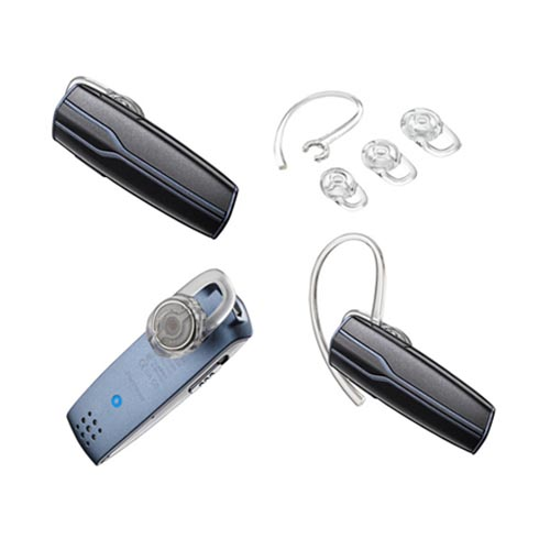Original Plantronics Dual-Mic Bluetooth Headset, 83600-001 - Black