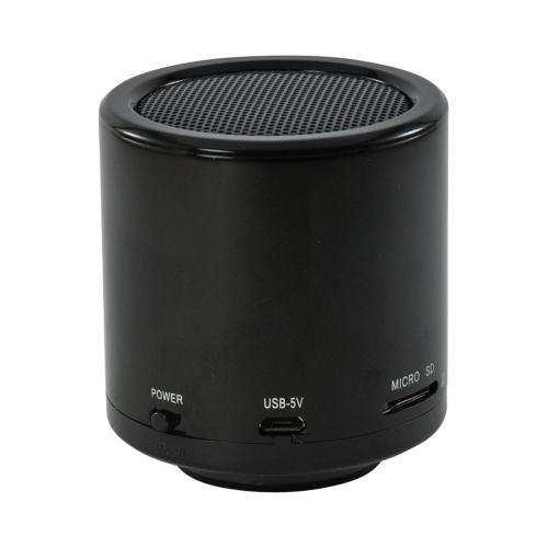 Black Portable Bluetooth 3.0 Wireless Speaker w/ Microphone, Micro USB Port & Micro SD Port