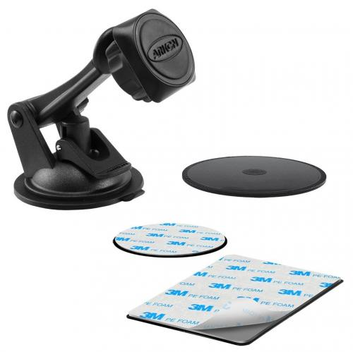 Arkon Magnetic Mount Series - Sticky Suction Windshield or Dash Mount (GN079 + AP013 + SP-MAGKIT)
