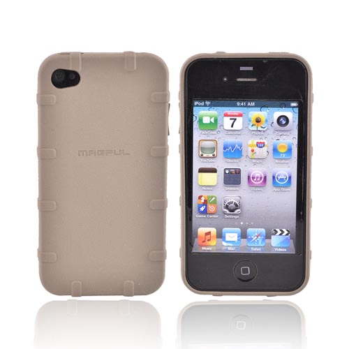 Original Magpul AT&T Apple iPhone 4 Executive Field Crystal Silicone Case, MAG450-FDE - Dark Earth Brown/Beige
