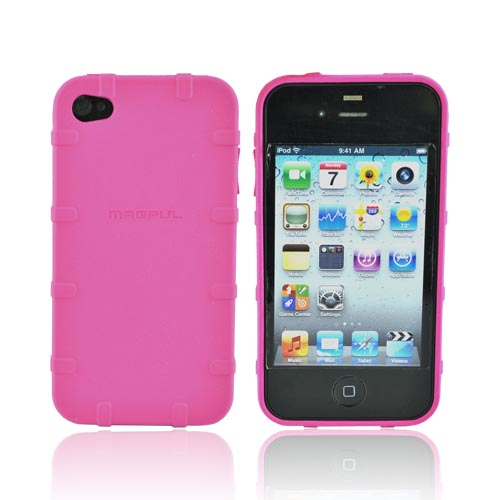 Original Magpul Apple AT&T iPhone 4 Field Crystal Silicone Case, MAG450-PNK - Hot Pink