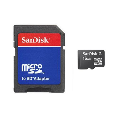 Original Sandisk 16GB Micro SD Memory Card w, SD Adapter & Memory Card Reader Combo