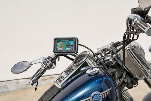 "Arkon Chrome Motorcycle Handlebar Mount for 5"" GPS & Smartphones - (MC2C + WPCS5WS + SP-SBH-KIT)"
