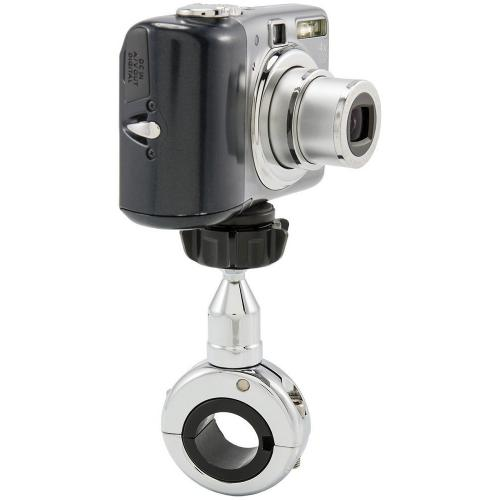 Arkon Chrome Motorcycle Handlebar Mount for Cameras - NEW (MC2C + SP-SB-RING + SP-1420CAM)