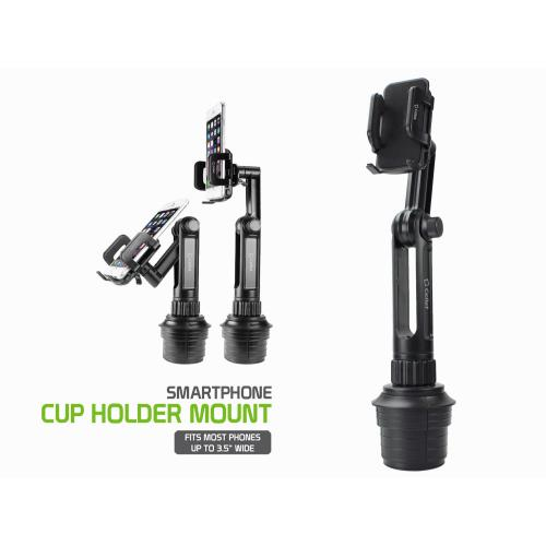 Macally Adjustable Automobile Cup Holder Cell Phone/ Device Mount, MCUP - Black