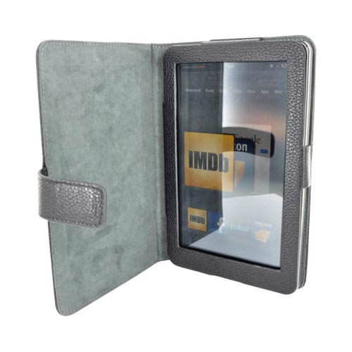 Original Kroo USA Amazon Kindle Fire Manhattan PU Leather Case Stand, MDKFMAK1 - Black