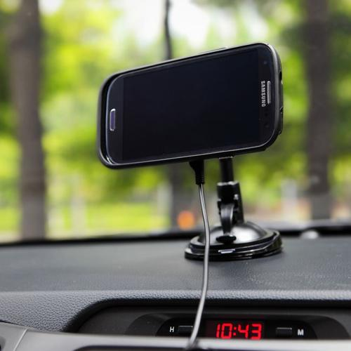 Anymode Black Magnetic Charging Car Mount w/ Micro USB Car Charger for Use w/ Magnet Charging Hard Cover Case