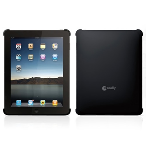 Original Macally Apple iPad (1st Gen) 1st Rubberized Protective Snap-On Case - Black
