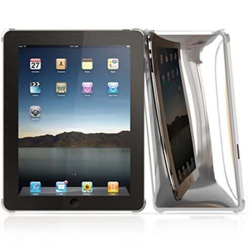 Original Macally Apple iPad (1st Gen) 1st Protective Snap-On Back Cover Case - Chrome