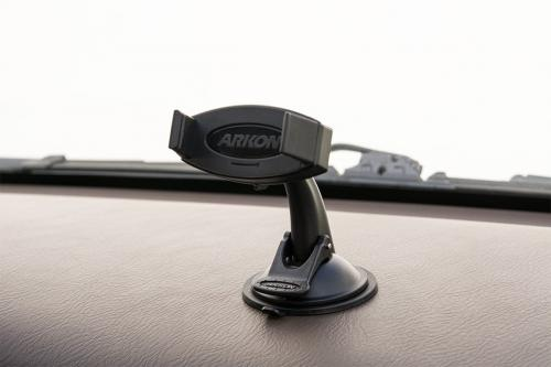 Arkon Black Mobile Grip 2 - Sticky Suction Smartphone Mount (MG002 + GN068 + SP-SB-RING + AP013)