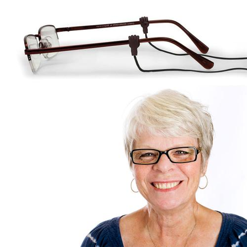 Kikkerland Handy Eyeglass Strap - Hands Easily Slide Onto The Arms of Glasses